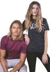 Cotton Heritage MC 1040 Crew Neck T shirt-SHINE Logo