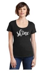 District Made Scoop Tee 106L - SHINE Logo