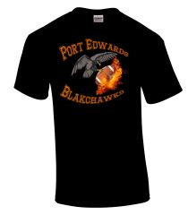 Port Edwards Blackhawks Flaming Football Old Mascott