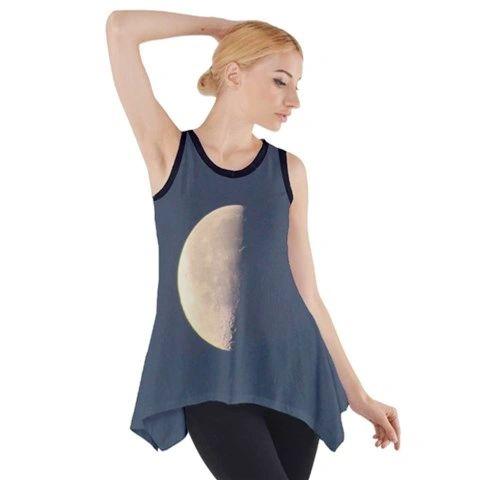 Day Moon Night Moon Sleeveless Swing Tunic