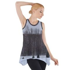 Winterscape Sleeveless Swing Tunic