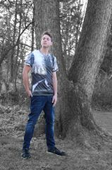 Winter Peacescape Sports Mesh Tee
