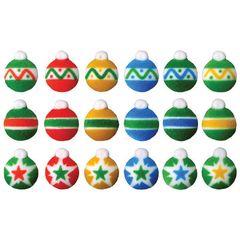 Christmas Ornaments Edible Sugar Decorations 18 Piece