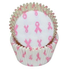 Pink Ribbon Standard Baking Cups 50 Piece
