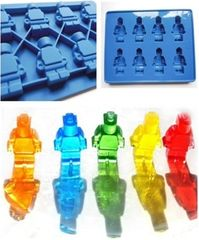 Building Man Lego 8 Cavity Chocolate Craft Candy Silicone Mold