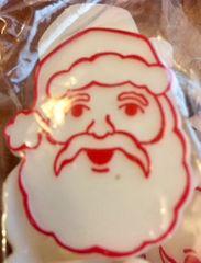 Santa Face Rings Novelty 12 Piece