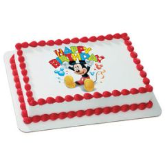 Mickey Friends Happy Birthday Edible Picture Decoration