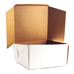 12x12x5 inch White Cake Box Each