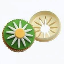 Daisy and Round Circle Cupcake Gumpaste Fondant Cutter
