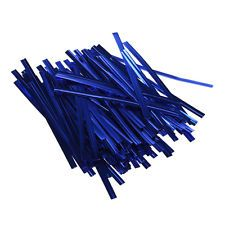 Blue Metallic Wire Twist Ties 4 inch