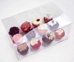 9.5x6x3 inch Clear Cake Cupcake Candy Box