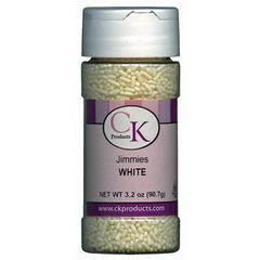 White Jimmies Sprinkles 3.2 oz