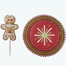 Gingerbread Boy Jolly Fun Standard Baking Cups and Picks Combo Pack
