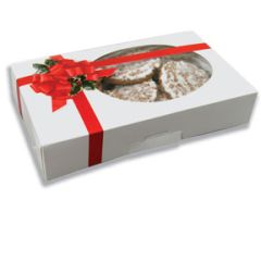 Ribbon 'n Holly Candy Cookie Box 1 lb 8-1/2 x 5-3/8 x 2 inch