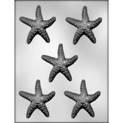 Starfish 5 Cavity Chocolate Craft Candy Mold