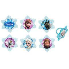 Frozen Adventure Cupcake Rings 12 Piece