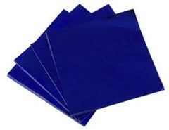 Dark Blue 3x4 Candy Foil Squares 125 piece