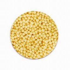 Yellow Pearlized Edible Sugar Pearls 3mm 4 oz