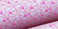 Sweetheart Pink Chocolate Transfers 9x12 inch
