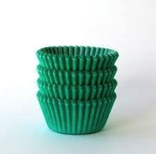Green Size 4, 3/4 wall x 1 inch base Paper Candy Cups 1 lb.