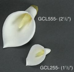Calla Lily 2 1/8 inch With Wire Edible Gumpaste Flower 4 Pieces
