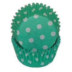 Green Polka Dot Standard Muffin Baking Cups 50 piece