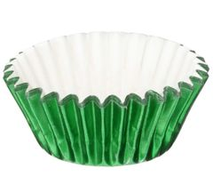 Green Foil Mini Baking Cups