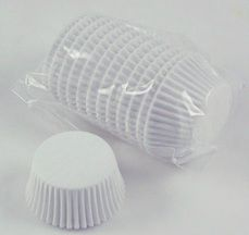 White Size 5, 3/4 wall x 1 1/4 inch base Paper Candy Cups 25,000 Piece Bulk Case