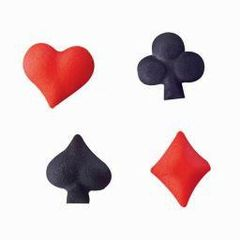 Playing Cards Symbols Sugars Decorations 16 Piece