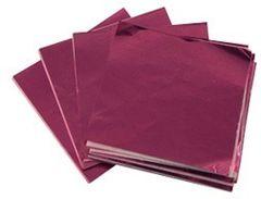 Pink 3x4 Candy Foil Squares 125 piece