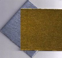 4x4 inch Silver Gold Reversible Cornish Cake Board Pad Each