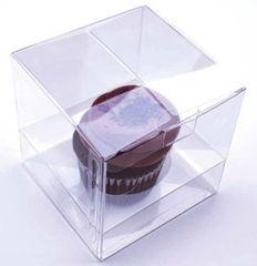 Clear Cupcake Candy Box 4x4x4 inch
