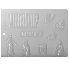 Nativity Scene Chocolate Craft Candy Mold