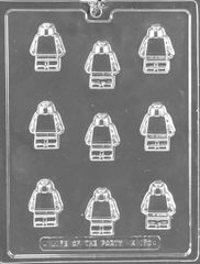 Building Man Lego 9 Cavity Chocolate Craft Candy Mold