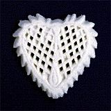 Lattice Heart Sugars 6 piece White