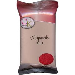 Red Non-Pareils Sprinkles 16 oz