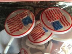 Patriotic American Flag Cupcake Rings 12 Piece