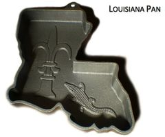 Louisiana Shaped State Cake Pan Cast Iron