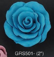 Blue Rose 3D 2 inch 5 Piece Edible Gumpaste Flower