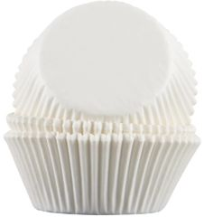White Baking Cups 50 piece 2.25 x 1.375 inch