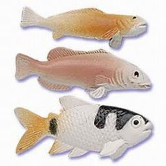Fish Assorted Cake Decoration Novelty 6 Piece
