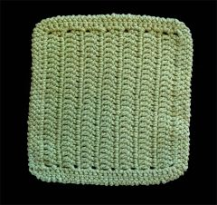 100% Cotton Hand Crocheted Dishcloth Washcloth Rag Color: SAGE