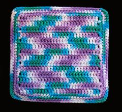 100% Cotton Hand Crocheted Square Pot Holder Hot Pad Doily Trivet Color: BEACH BALL