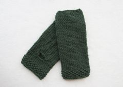 Fingerless Mitts Deep Sea Green
