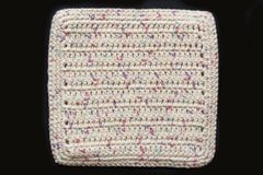 100% Cotton Hand Crocheted Square Pot Holder Hot Pad Doily Trivet Color: POTPOURRI