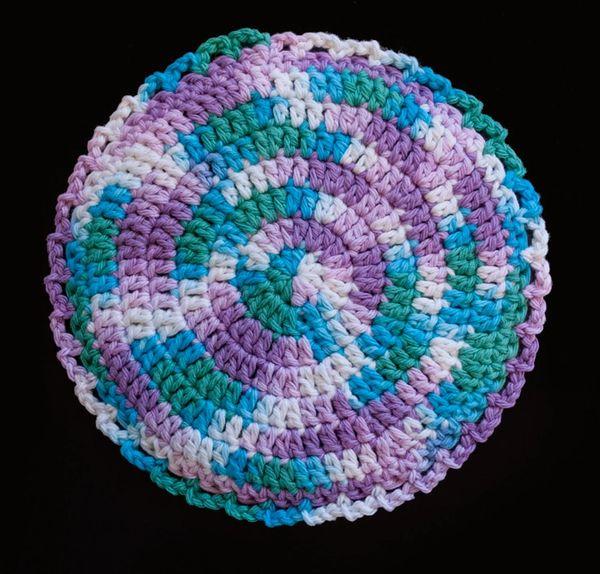 100 Cotton Hand Crocheted Round Pot Holder Hot Pad Doily Trivet