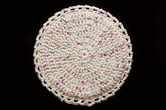100% Cotton Hand Crocheted Round Pot Holder Hot Pad Doily Trivet Color: POTPOURRI
