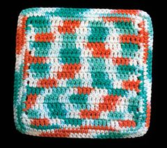 100% Cotton Hand Crocheted Dishcloth Washcloth Rag Color: AHOY