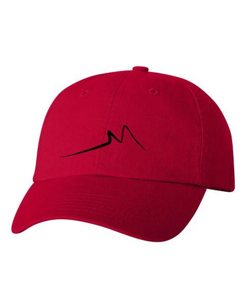 2127054014 Dad Hat Red Black
