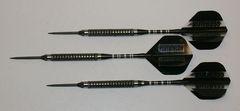P4 BlackLine 21 gram Steel Tip Darts - 80% Tungsten, Medium Grip - Style 6